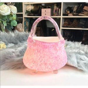 👛 Pink Blown Glass Purse Handbag Shaped Lamp 👛